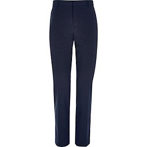 Blue smart slim trousers