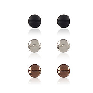 Metal screw plug earrings pack