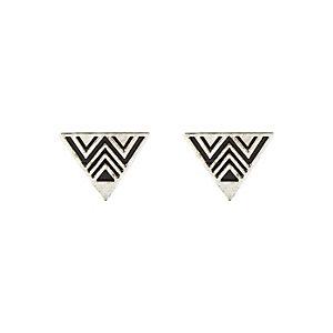 Silver tone triangle collar tips