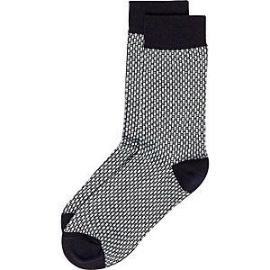 Blue smart tile socks