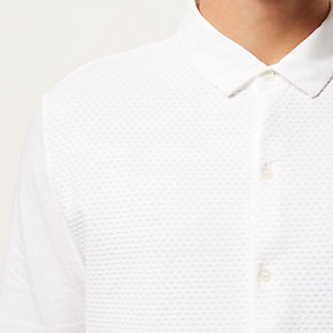 White textured dotty shirt