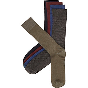 Mixed textured socks pack