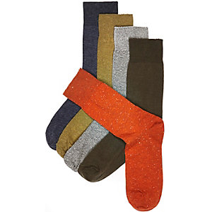 Mixed marl ankle socks pack