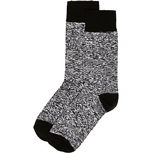 Black marl socks