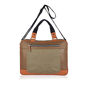 Brown canvas work bag