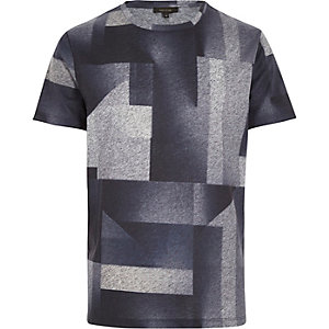 Grey faded shape print t-shirt