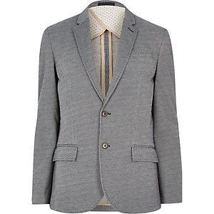 Navy smart slim blazer