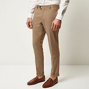 Camel brown smart skinny trousers