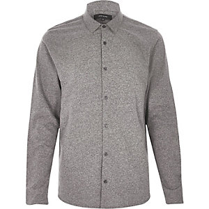 Grey grindle button up shirt