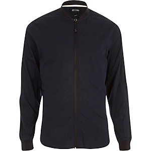 Navy Only & Sons zip up shirt