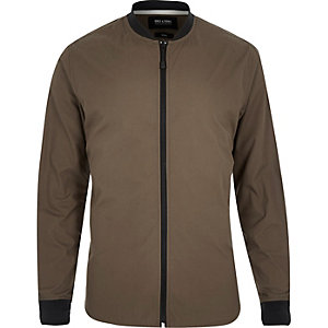 Grey Only & Sons zip up shirt