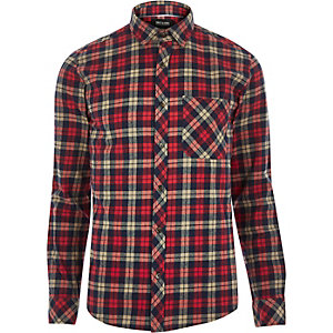 Red check Only & Sons shirt