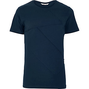 Blue Only & Sons textured front t-shirt