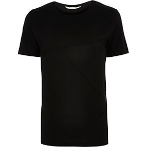 Black Only & Sons patchwork t-shirt