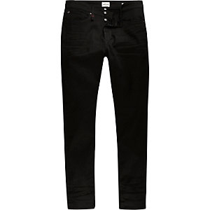 Black wash RI Flex skinny jeans