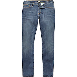 Mid wash blue RI-Flex slim jeans