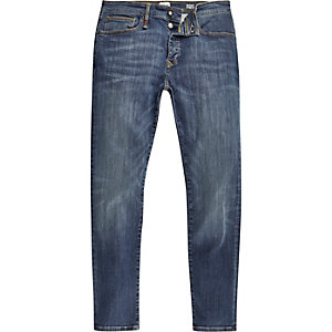 Sid – RI Flex – Mittelblaue Skinny Jeans