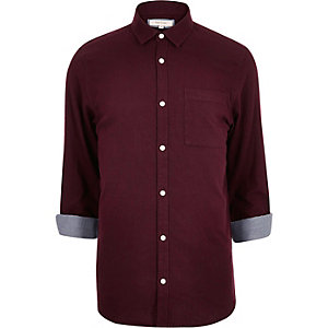 Dark red casual shirt