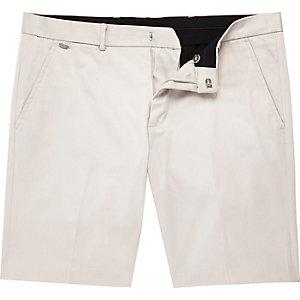 Ecru smart stretch chino shorts