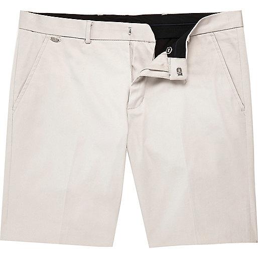 Short chino stretch écru habillé