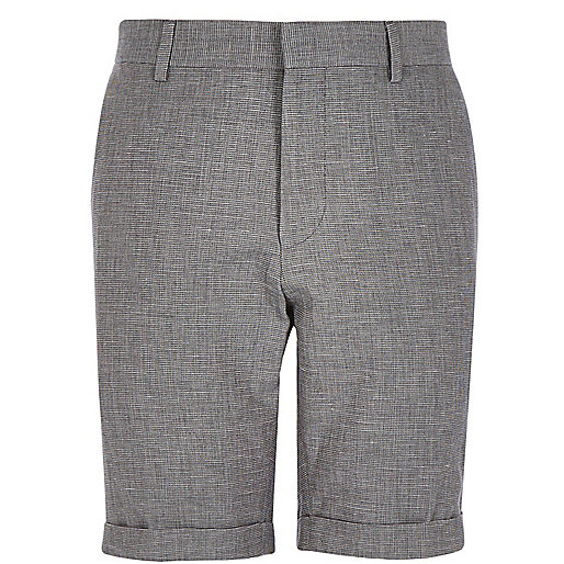 Grey smart bermuda shorts