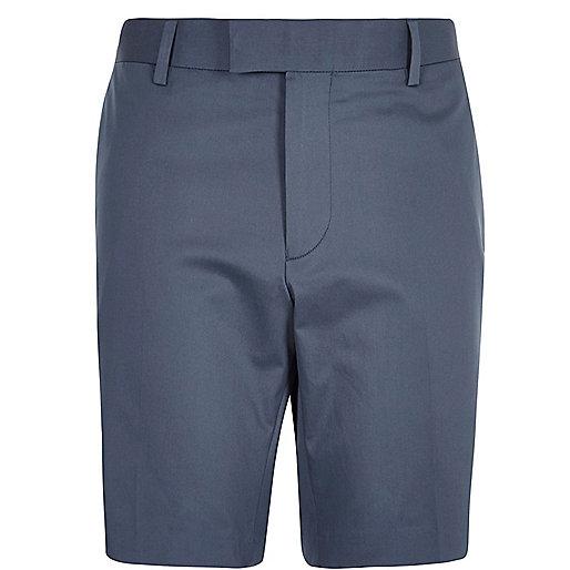 Navy smart bermuda shorts