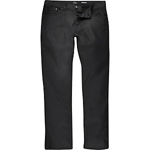 Black wash Dean straight jeans