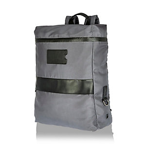 Grey minimal backpack