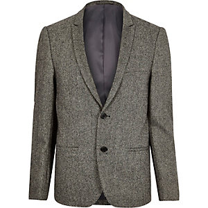 Grey Vito wool-blend blazer