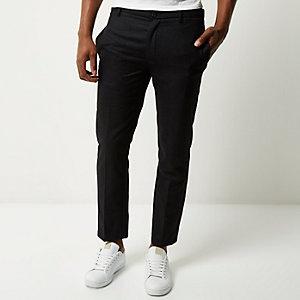 Dark grey houndstooth skinny crop trousers
