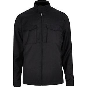 Navy casual double pocket harrington jacket