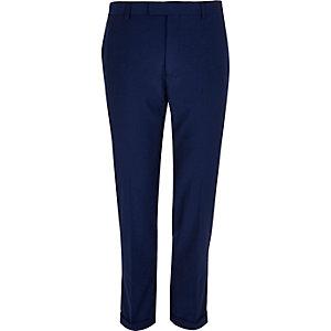 Bright blue slim cropped pants