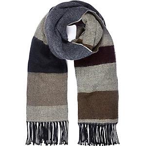 Beige clock colour tassel scarf