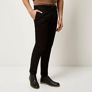 Black slim chino pants