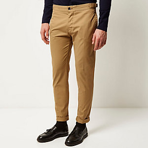 Brown slim chino pants