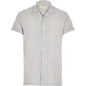Grey retro open neck shirt