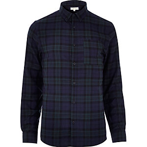 Dark green check shirt