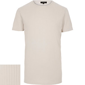 White chunky ribbed t-shirt