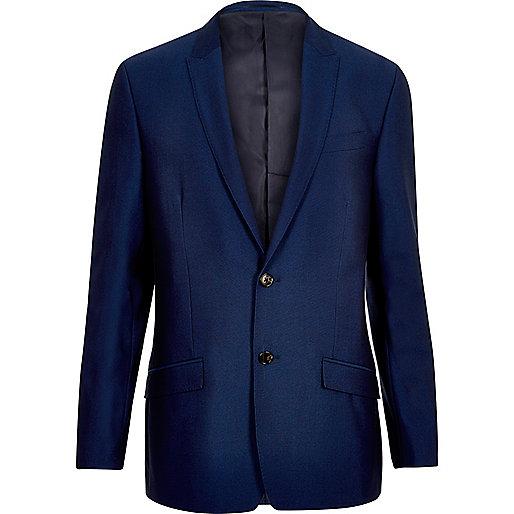 Bright blue slim suit jacket