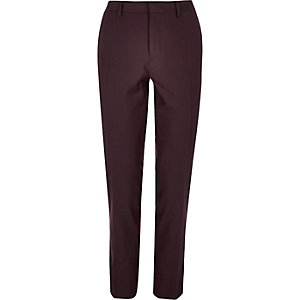 Dark red skinny pants