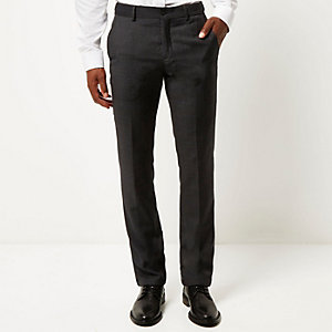 Grey Vito tailored slim trousers