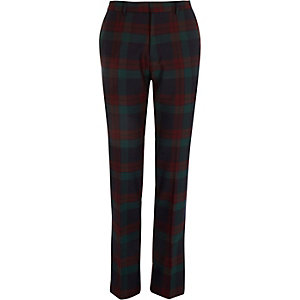 Red Vito check super slim trousers