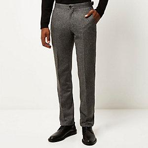 Grey Vito wool-blend slim pants