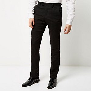 Black Vito jacquard slim fit pants