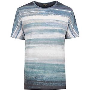 Blue marble print t-shirt
