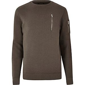 Light brown zip sweatshirt