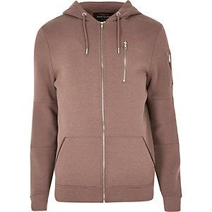 Dark pink zip hoodie