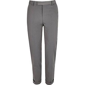 Light grey slim suit pants