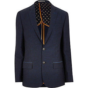 Blue smart slim blazer