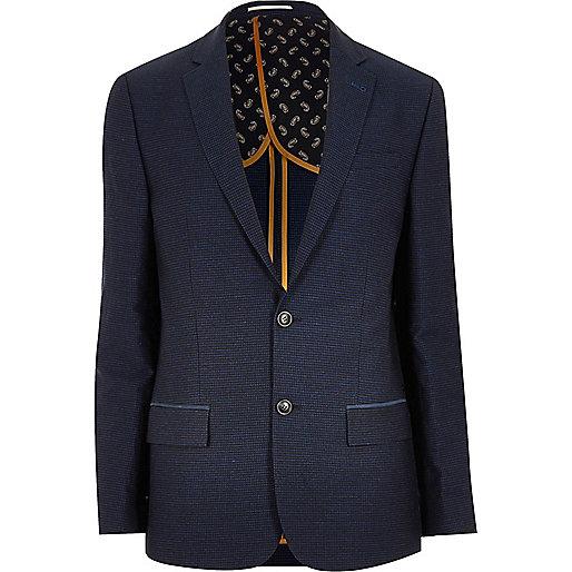 Blauer eleganter schmaler Blazer